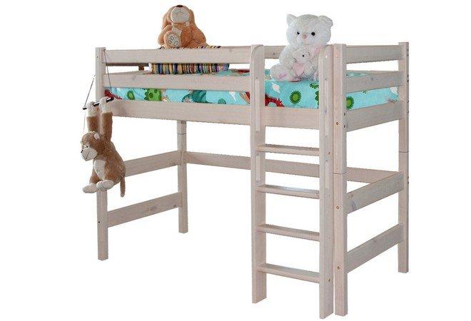 """Полувысокая кровать """"Соня"""" с прямой лестницей"""