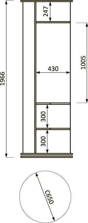 Lorem-6 Набор мебели для прихожей от мебельной фабрики Пирамида. Чертёж