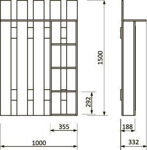 Lorem-8 Набор мебели для прихожей от фабрики Пирамида. Чертёж