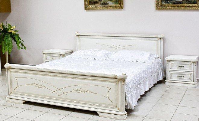 Кровать НМ418.01 от набора мебели для спальни «Гербера»