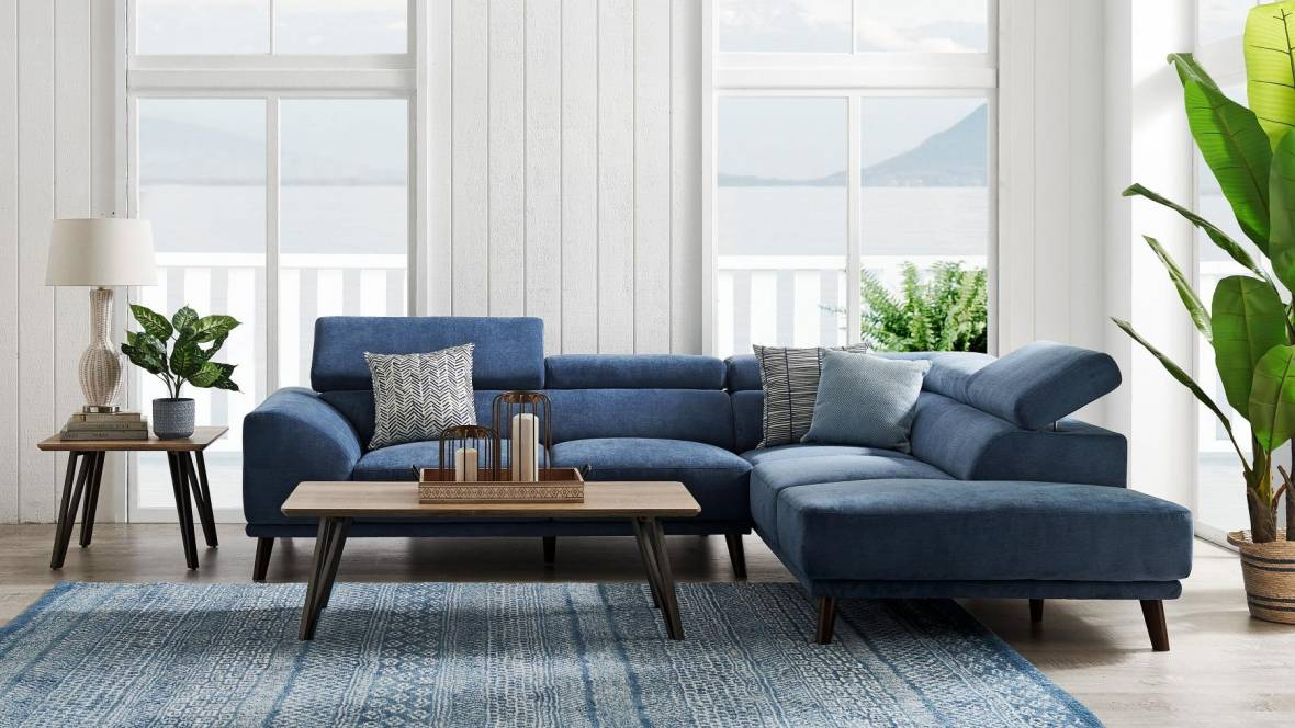 Дополните свой интерьер тканевым угловым диваном